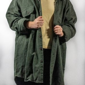 Other - Green button up